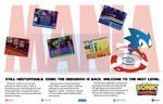 Sonic Mania 90s magazine ad (fan made)