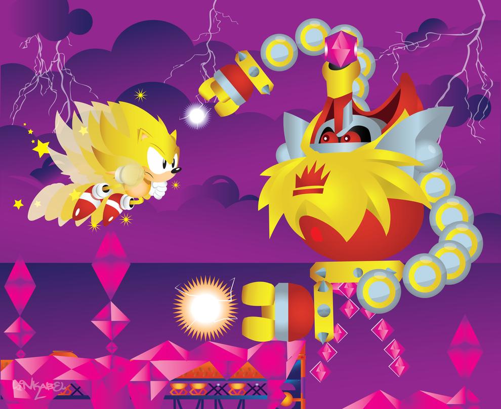 Super Sonic vs heavy king- Sonic Mania by SonicTheBlueStar