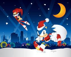 Sonic and Nights Christmas edition