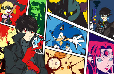 Persona 5 Joker in Smash Bros by Linkabel32