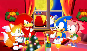 Sonic The Screensaver Christmas