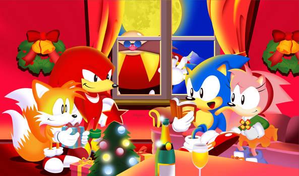 Sonic The Screensaver Christmas