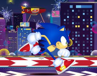 Sonic The Screensaver: Sonic 29th birthday