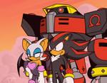 Shadow The Hedgehog-Team Dark