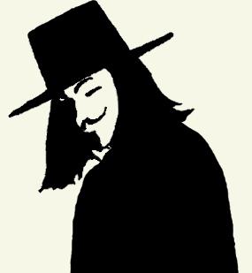 V For Vendetta Mask Stencil V for Vendetta ...