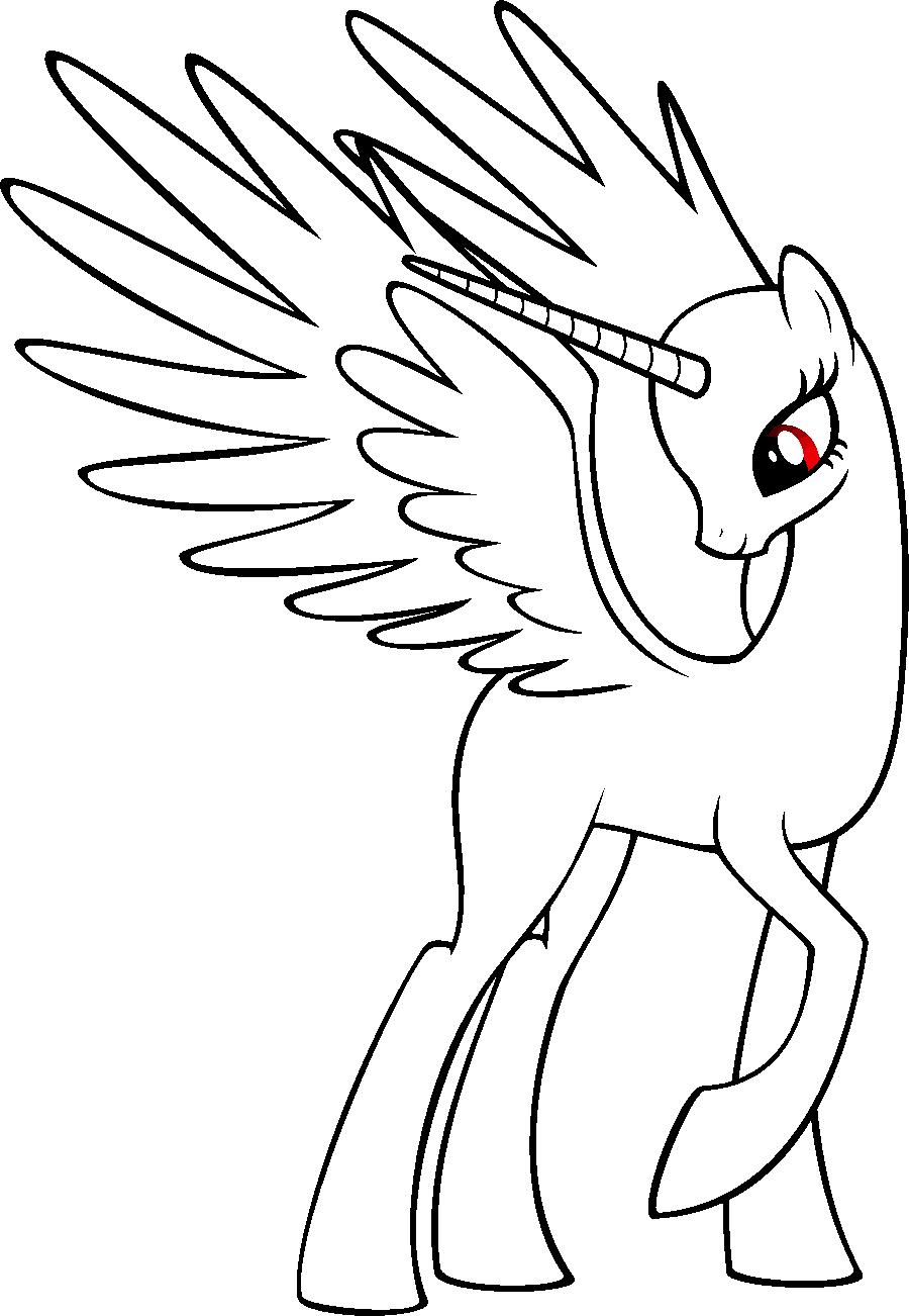 Пони без грив и хвостов раскраска