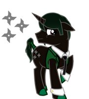 Agent Six Pony by DesertDraggon