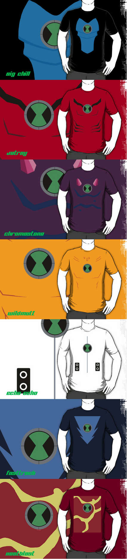 Ben 10 Alien T-shirts by RandomDraggon