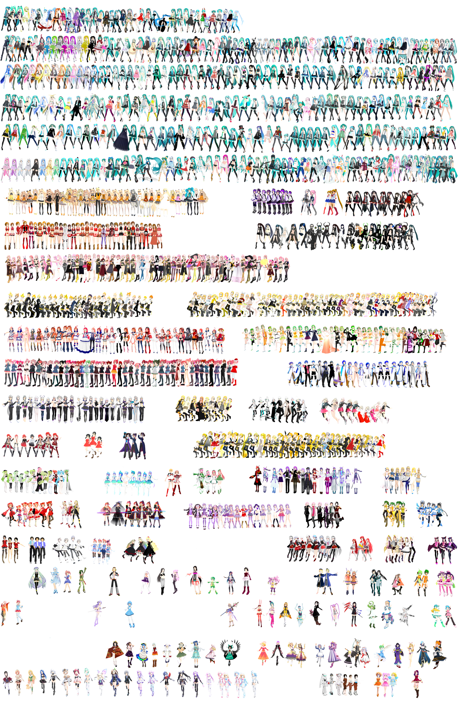 Just 1058 MMD models I Have. :I by RandomDraggon