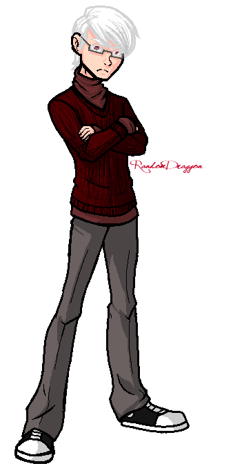 Albedo's Librarian Disguise by RandomDraggon