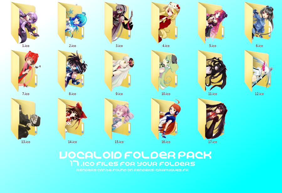 Vocaloid Folder Icon Pack DL by RandomDraggon
