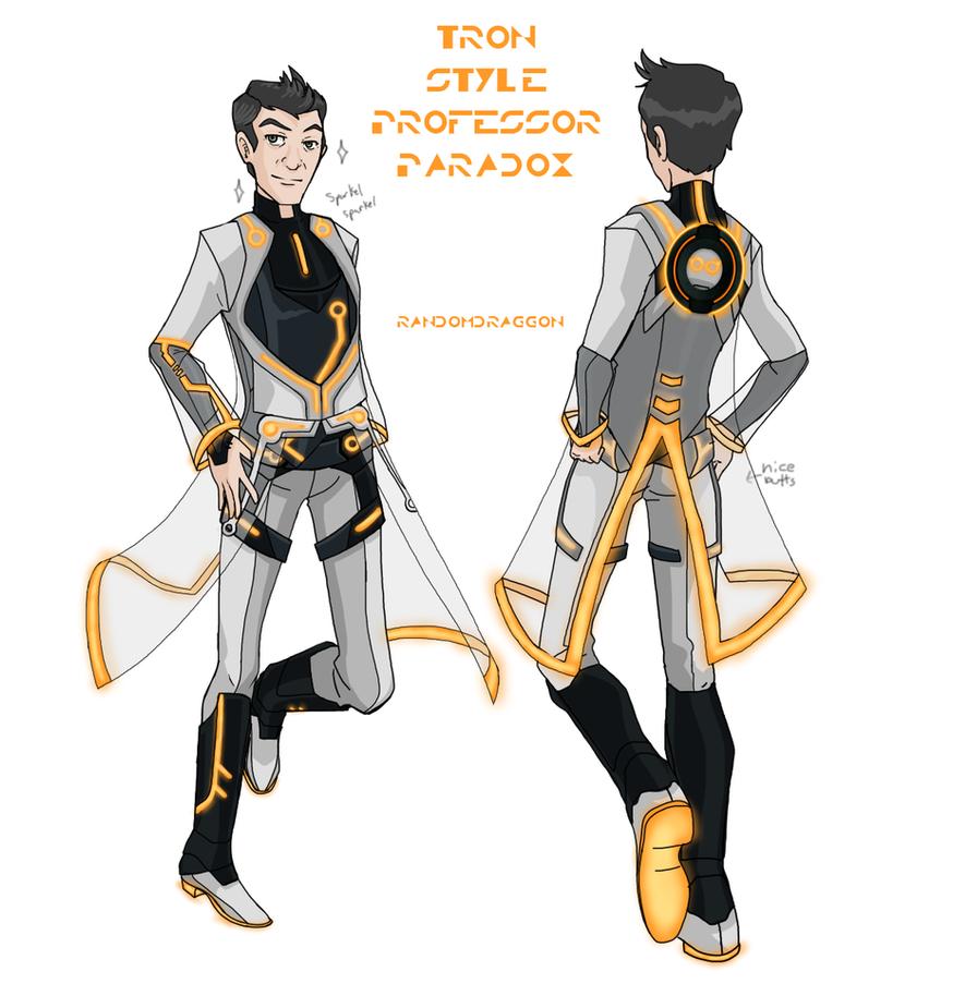 TRON Style Professor Paradox Design by RandomDraggon