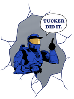 Tucker Did It! T-Shirt by DesertDraggon