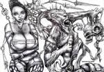 Drako Dark Syde: Big Boob Beauty and the Beast... by MoodDisorder