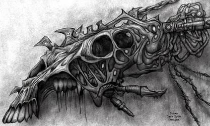 Drako Dark Syde: Industrial BioMechanical Skull... by MoodDisorder
