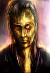 Drako Dark Syde: Portrait of Suicide-Blood Tears. by MoodDisorder