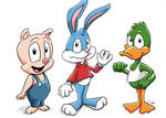 Buster, Plucky, and Hampton