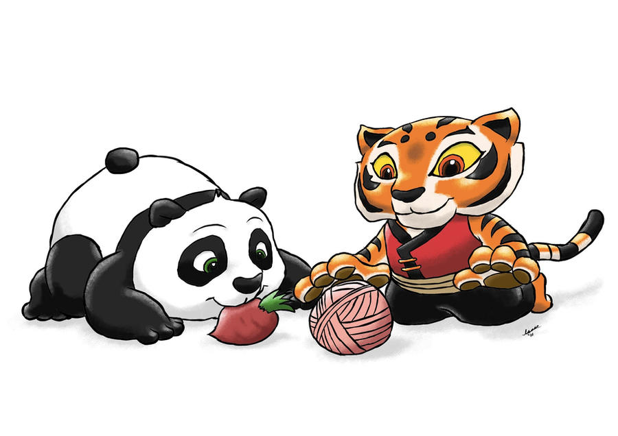 Kung Fu Panda Po And Tigress Baby