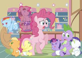 Pinkie Pie the Babysitter by ViralJP