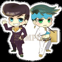 Josuke and Rohan by tehYurigiri