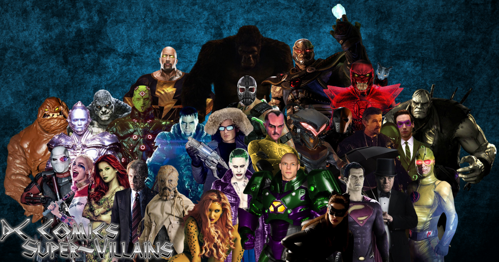 DC Comics Super Villains By Camo Flauge