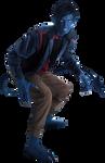 X-Men's Nightcrawler: Transparent Background!