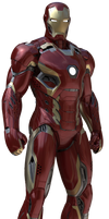 Iron Man Mk-45: Transparent Background!