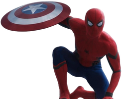 Civil War Spider-Man: Transparent Background! by Camo-Flauge