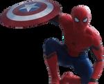 Civil War Spider-Man: Transparent Background!