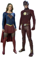 Supergirl and Flash - Transparent Background! by Camo-Flauge