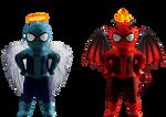 Spider-Angel and Spider-Devil - Transparent!