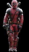 Deadpool (walking) - Transparent! by Camo-Flauge