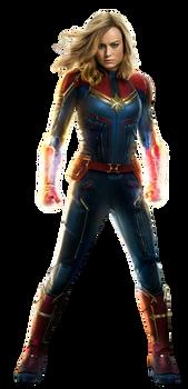 Captain Marvel - Transparent! by Camo-Flauge