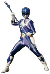 Mighty Morphin' Blue Ranger - Transparent! by Camo-Flauge