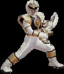 Mighty Morphin' White Ranger - Transparent!