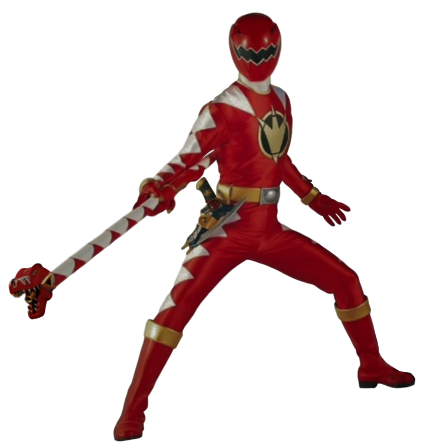 Dino Thunder Red Ranger - Transparent! by Camo-Flauge on