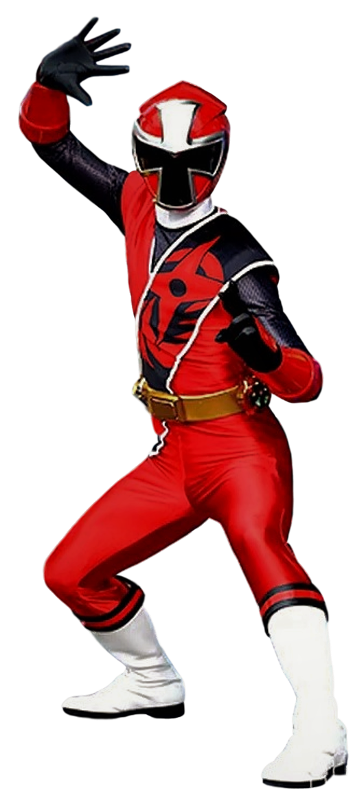 Ninja Steel Red Ranger - Transparent! by Camo-Flauge on