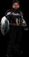 Bucky Barnes' Captain America - Transparent!