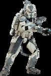 Clone Commander Wolffe - Transparent!