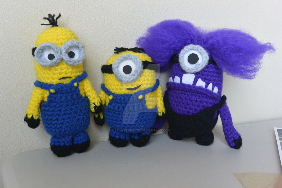 Despicable Me Minions and Evil Minion (crochet) by lillybearbutt on ...