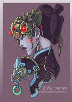 Black Lily Widowmaker by Tomodraws