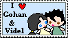 gohan videl stamp by TaintedTruffle