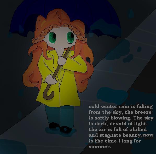 winter rain by TaintedTruffle