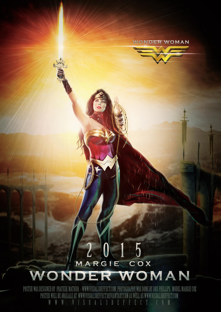 2015 Wonder Woman Teaser Poster by Visual3Deffect