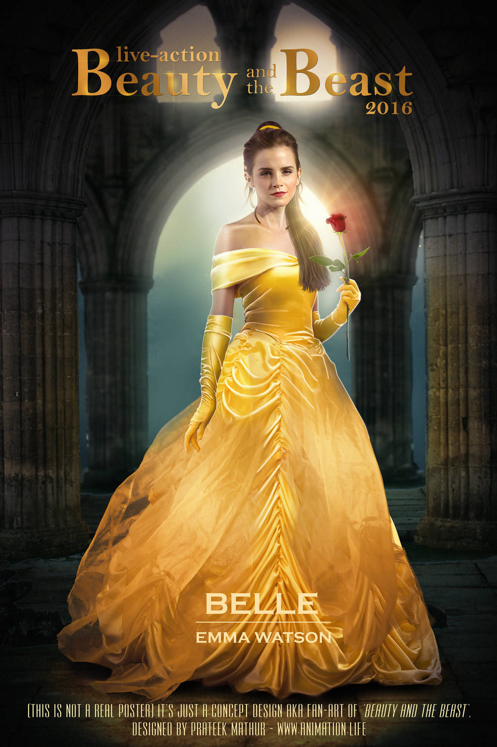 Emma Watson as BELLE in Beauty and the Beast by AxteleraRay-Core