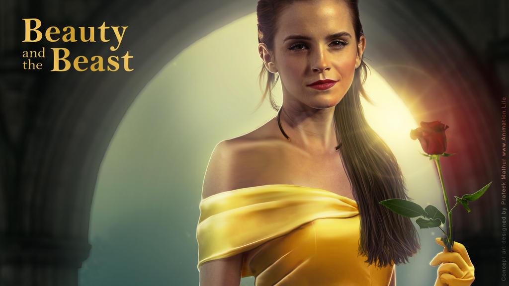 Emma Watson - Belle Wallpaper 01 by Visual3Deffect