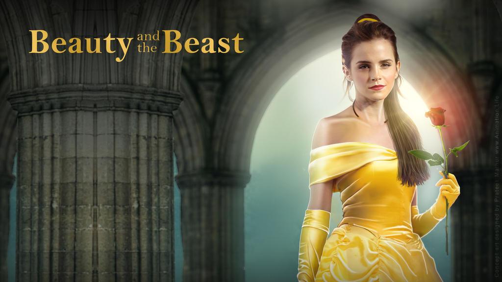 Emma Watson - Belle Wallpaper 02 by Visual3Deffect
