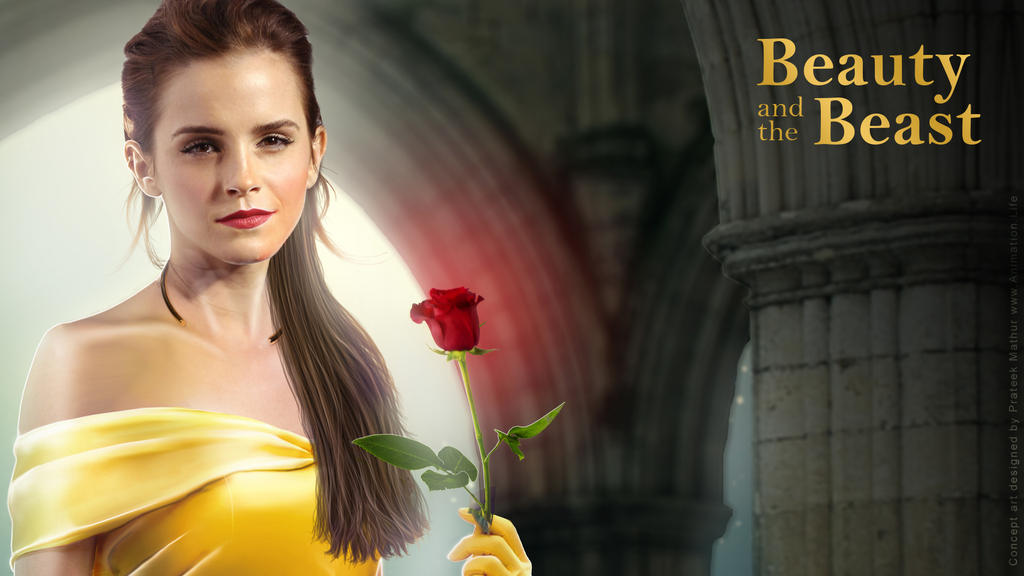 Emma Watson - Belle Wallpaper 03 by Visual3Deffect