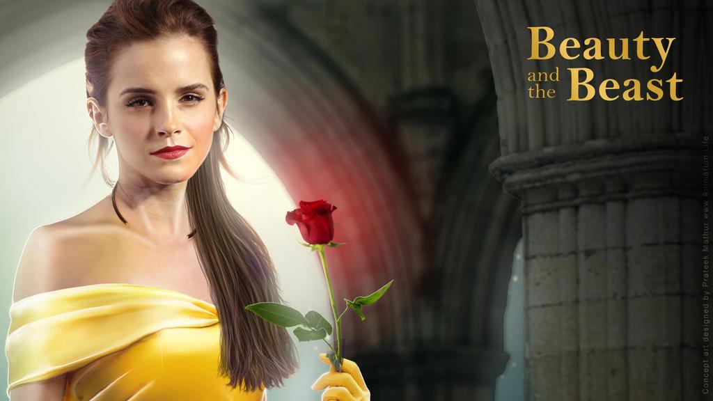 Emma Watson - Belle Wallpaper 03 by Visual3Deffect