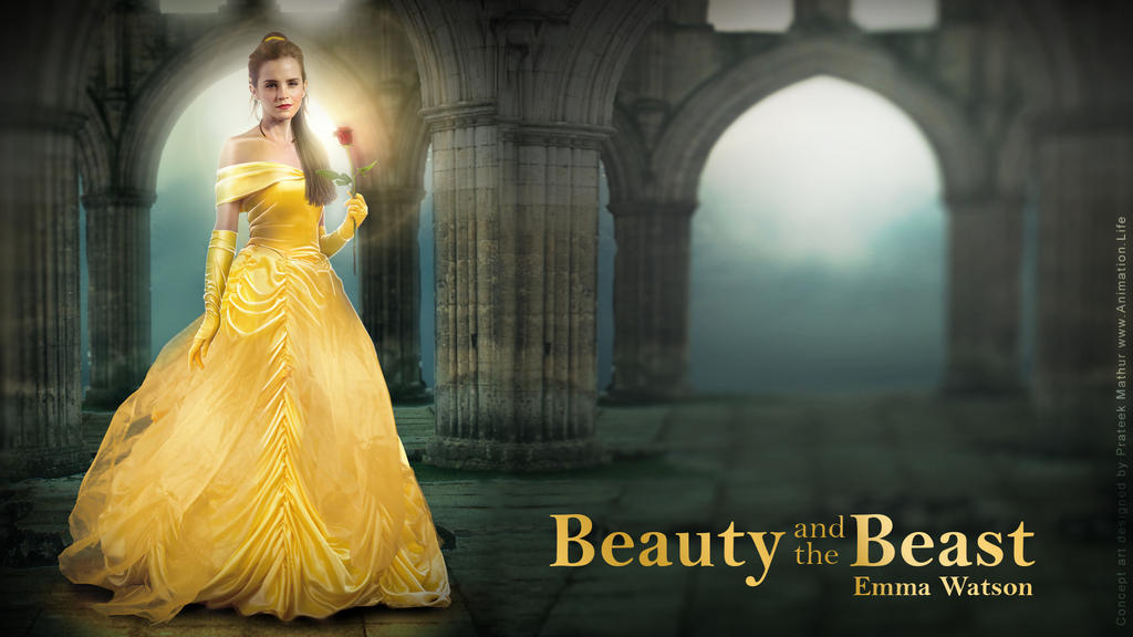 Emma Watson - Belle Wallpaper 04 by Visual3Deffect